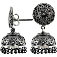 Fine 925 Sterling Silver Jhumka Indian Jewelry