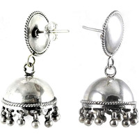 lovable 925 Sterling Silver Jhumka Indian Jewelry