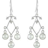 Wholesaler Pearl Earrings 925 Sterling Silver Jewelry