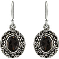 Great Creation!! 925 Sterling Silver Smoky Quartz Earrings