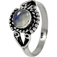 Spell ! 925 Sterling Silver Rainbow Moonstone Ring