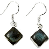 Breathtaking !! Labradorite 925 Sterling Silver Earrings