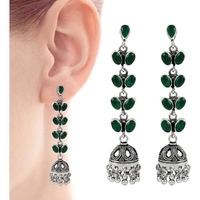 Great Creation !! 925 Sterling Silver Green Onyx Earrings