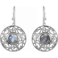So In Love ! 925 Sterling Silver Rainbow Moonstone Earrings