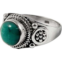 Delicate! 925 Sterling Silver Turquoise Ring