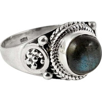 Perfect! 925 Sterling Silver Blue Labradorite Ring