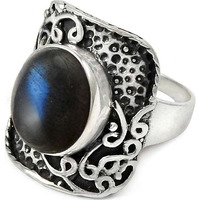 Excellent! 925 Sterling Silver Blue Labradorite Ring