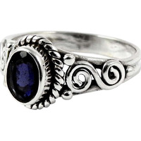 Big Grand Love!! 925 Sterling Silver Iolite Ring