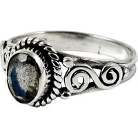 Big True Emotion!! 925 Sterling Silver Labradorite Ring