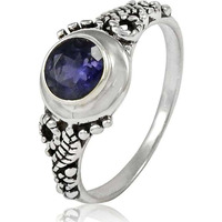 Big Royal Style!! 925 Sterling Silver Iolite Ring
