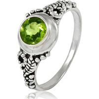 Big Secret Design!! 925 Sterling Silver Peridot Ring