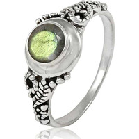 Natural Beauty!! 925 Sterling Silver Labradorite Ring