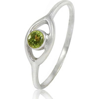 Very Delicate!! 925 Sterling Silver Peridot Ring