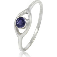 Paradise Bloom!! 925 Sterling Silver Iolite Ring