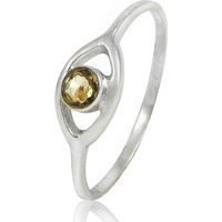 Fabulous!! 925 Sterling Silver Citrine Ring