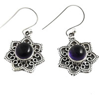 So In Love !! 925 Sterling Silver Amethyst Earrings