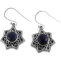 Fantastic Quality Of!! 925 Silver Lapis Earrings