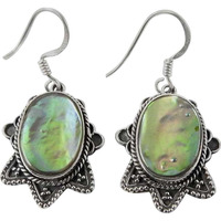 Passionate Love!! Ablone Shell 925 Sterling Silver Earrings