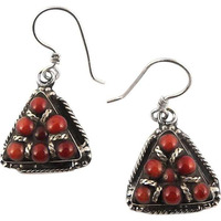 Exclusive!! 925 Silver Coral Earrings
