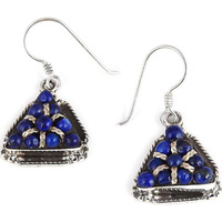 Large!! 925 Silver Lapis Earrings