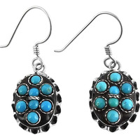 Corrico Lake !! Turquoise 925 Sterling Silver Earrings