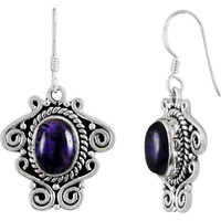 Shine ! 925 Sterling Silver Amethyst Earrings