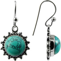 Big Excellent ! Turquoise 925 Sterling Silver Earrings