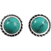 Awesome !! 925 Sterling Silver Turquoise Stud Earrings