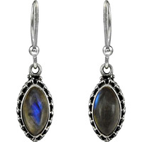 A Secret! 925 Sterling Silver Labradorite Earrings