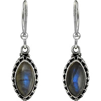 Abstract! 925 Sterling Silver Labradorite Earrings