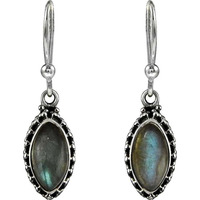 Great ! 925 Sterling Silver Labradorite Earrings