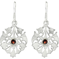 New Faceted! 925 Silver Garnet Earrings