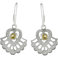 Before Time! 925 Sterling Silver Citrine Earrings