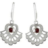 Best Design! 925 Sterling Silver Garnet Earrings