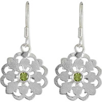 Lilac Kiss! 925 Silver Peridot Earrings