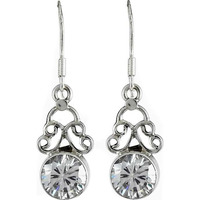 Fine! 925 Silver CZ Earrings