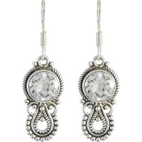 Classy Design! 925 Silver CZ Earrings