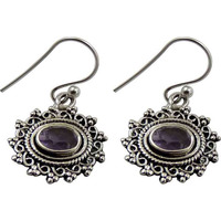 Amazing Design! 925 Silver Amethyst Gemstone Earrings