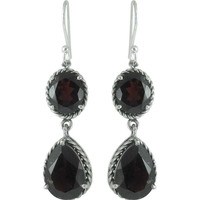 New Fashion !! Garnet 925 Sterling Silver Earrings