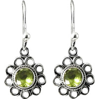Completed Night ! Peridot 925 Sterling Silver Earrings
