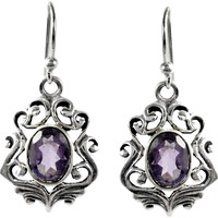 Stunning Natural Rich!! Amethyst 925 Sterling Silver Earrings