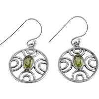 Big Excellent ! Peridot 925 Sterling Silver Earrings