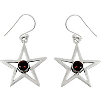 Just Perfect!! Garnet 925 Sterling Silver Earrings