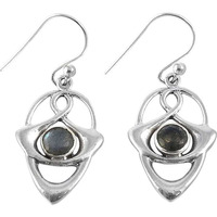Gorgeous Design!! Labradorite 925 Sterling Silver Earrings