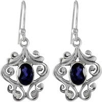 Delicate Light!! Iolite 925 Sterling Silver Earrings