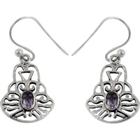 Spell!! Amethyst 925 Sterling Silver Earrings