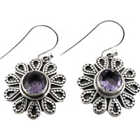 Jumbo ! Amethyst 925 Sterling Silver Earrings