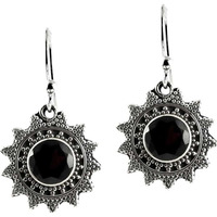 Chunky ! Garnet 925 Sterling Silver Earrings