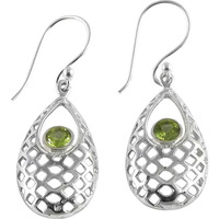 Classy Natural ! Peridot 925 Sterling Silver Earrings