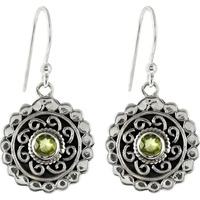 Large Stunning!! Peridot 925 Sterling Silver Earrings